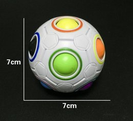 Wholesale 15 Speeds - Spherical Cube Rainbow Ball Football Magic Speed Cube Puzzle Children's Educational Toys Cubes GMF for baby