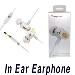 Wholesale Earpiece For Blackberry - Langsdom R36 In Ear Earphone Thread Line Stereo Headsets 3.5mm Earpiece with Mic For iPhone Samsung Mobile Phone