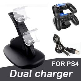 Deux chargeurs pour manette sans fil ps4 xbox one 2 LED usb station de charge support de support de station d'accueil pour console de jeu ps4 playstation ? partir de fabricateur
