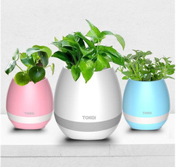 Wholesale Outdoor Led Night Light - Hot sale Creative Music Vase Smart Music Flowerpot Wireless Bluetooth Speaker K3 Intelligent Plant Piano Music with Colorful LED Night Light