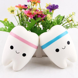 Wholesale Blue Fine - Selling Squishy simulation teeth your widgets Fine packing with beads slow rebound decompression toys