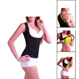 Wholesale Weight Vest Wholesale - Neoprene Sauna Waist Trainer Cincher Vest Hot Slimming Sweat Belt Fat Burning Body Shaper For Women Weight Loss