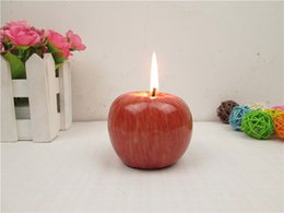 Wholesale Retail Packaging Candles - Red Apple flameless Candle with Retail Package Home Decoration Fruit Shape Scented Candle Lamp Christmas Birthday Wedding Gift Wholesale