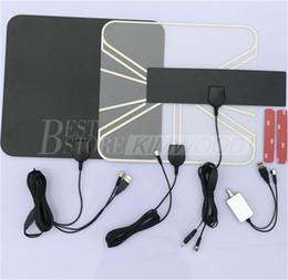 Wholesale Indoor Amplifier - Factory Supply HDTV Indoor Antenna- 50 Miles Digital Long Range TV HD Antenna Free Shipping HDL