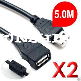 Canada Câble d'extension USB 2.0 mâle / femelle de 2 x 5 m cheap ide extension cable Offre
