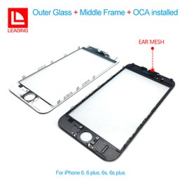 Wholesale Iphone Cold - Front Touch Screen Panel Outer Glass Lens with Cold Press Middle Frame with OCA installed for iPhone 6 6s 6 plus 6s plus