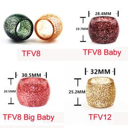 2019 tapa dólar Nueva Llegada Shiny Dollar Repuesto Tubo de Resina Tubos de Resina Reemplazables Tapas para TFV8 Big Baby TFV8 Bebé TFV12 Atomizador e cigarrillo rebajas tapa dólar