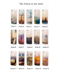Wholesale Eiffel Iphone - 15 kinds scenery For Apple Iphone 7 7plus 6 6s 6plus Iphone 5 5S SE silicone case TPU cell phone cases Big Ben Eiffel