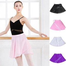 Wholesale Dancer Dresses Girls - Women Dancer Dressing Girls Chiffon Ballet Leotard Tutu Wrap Scarf Skirt Dance Skirt