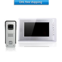 Wholesale Cheap Video Doorbell - cheap and fashion video doorbell silver Gold 7 inch color screen andintercom system and WLED night vision