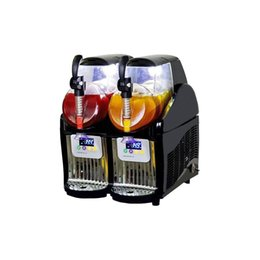 Wholesale Bars Machine - 220V 110V black color dual tank mini ice slush machine 5L