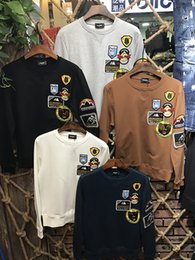 Wholesale Green Army Jackets Mens - 2017 New Men's Pullover Round Collar Hoodies DSQ2 Sweatshirts Jacket Length Sleeve Print Hoody Mens Brand D2 Sportwear Outwear DS114