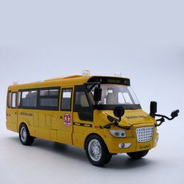 Wholesale Model Bus Toys - Diecast Bus Model, 22Cm Length Metal Toy, Alloy Car For Boys With Gift Box Openable Doors Music Light Pull Back Function