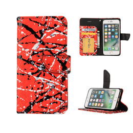 Wholesale Leather Id Flip Iphone Case - PU Leather Flip Cover With Kickstand ID Credit Card Solts Wallet Case Anti Scratch Crocodile Grain For iPhone 7 plus OPP BAG