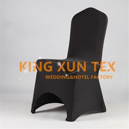 Wholesale Good Chairs - 100pcs Sold Lycra Chair Cover Cheap Wedding Spandex Chair Cover Good With Arch Front Quality Free Shipping