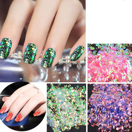 Wholesale Paper Manicure - New Nail Glitters Mermaid Fish Scale Sequins Shell Paper Decoration 3d Manicure Pedicure Accessories Holo Nails Beauty Gift 2017