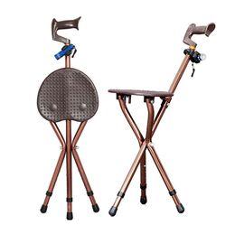 Fezes portátil ao ar livre on-line-Dobrável ajustável ao ar livre cadeira de bengala andar de fezes massagem bengala com assento portátil banquinho de resto de pesca