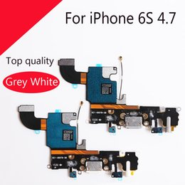 Wholesale Headphone Parts - New For iPhone 6S 4.7 Headphone Jack Mic Cable and Charging Charger Port Dock Connector Flex Replacement Part