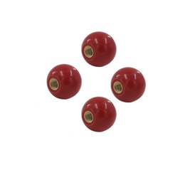 Wholesale Threaded Inserts Wholesale - 4pcs M6 M8 M10 Thread Dia. Bikelite Ball Knob Copper Insert Round Handle Black Red for Machine Tool