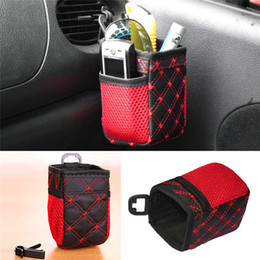 Wholesale Net Mobile - Auto Car net Storage bag Mobile Phone car Organizer hanging Bag Holder Accessory 6.5*7*12cm Free Shipping