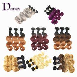 Wholesale Bleaching Machine - Brazilian Peruvian Indian Malaysian Hair Wefts 3pcs lot Unprocessed Human Hair Body Wave