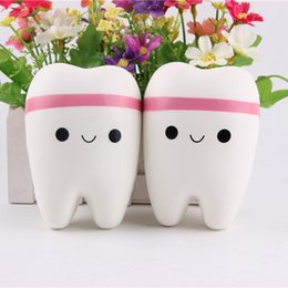 Wholesale Resin Boy Ornament - Squishy tooth toys slow rising relieve stress toys no buckle pure slow rebound ornaments manufacturers spot wholesale Unzip the simulation