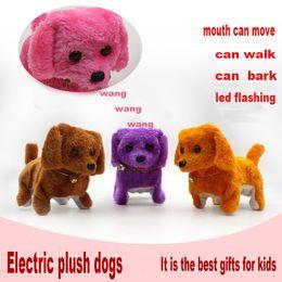 Wholesale New Electric Toys - 2017 Electronic plush toys dog Pets Hot Selling New Fashion Walking Barking Toy High Quality Funny Electric Short Floss Dog Toys Ele...