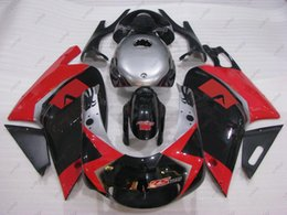 Wholesale 125 Fairing - ABS Fairing RS125 01 00 Full Body Kits for Aprilia RS125 02 03 Red White Fairing Kits RS 125 04 05 2000 - 2005