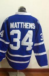 Wholesale M Leaf - Top Quality ! 2016 New Men Toronto Maple Leafs Ice Hockey Jerseys Cheap #34 Auston Matthews blue white Jersey Authentic Stitched Jerseys