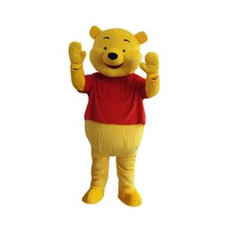 Wholesale Mascot Yellow Bear - Mascot Costume Winnie The Pooh Cartoon Clothing Adult Size Bear Lovely Mascot