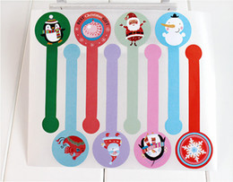 Wholesale Diy Party Favor Cake - Wholesale- 80pcs DIY Scrapbooking Merry Christmas Gift Kraft Sticker Cookie Cake Gift Labels Stickers Kitchen Sweets Party Seal Sticker