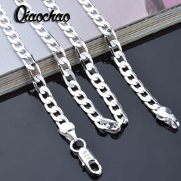 Wholesale 925 Silver Men Mm - Wholesale- Wholesale 925 sterling solid silver chains necklace 4 mm 16-24inch men fashion necklaces jewelry X83