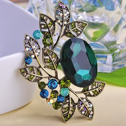 Wholesale Broach Collar - Wholesale- Noble Good Luxury Vintage Brooches Opal Crystal Hijab Brooch Wedding Invitations Broche Collar Broaches Feminino Broches Game