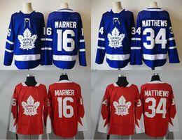 Wholesale Full News - 2017-2018 News Stitched NHL adlads Toronto Maple Leafs Blank #16 MARNER #34 MATTHEWS Blue Ice Hockey Jerseys