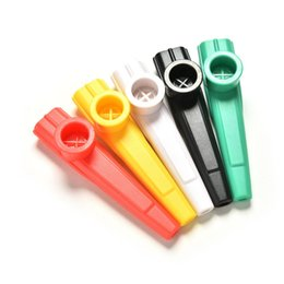 Wholesale Musical Instruments Harmonicas - Wholesale- 1PCS Party Gift Plastic Kazoo Harmonica Mouth Flute Kids Adult Child Musical Instrument For All Ages Educational Toys