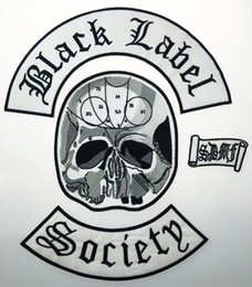 Wholesale Garment Jackets - Wholesale Excellent 4pc Back Set Black Label Society Embroidered Iron Patch Biker Jacket Rider Vest Patch Iron On Any Garment Model G0220