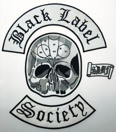 Задние куртки онлайн-Оптовые отличные 4pc Back Set Black Label Society Вышитые железные патч Biker Jacket Rider Vest Patch Iron на любой модели одежды G0220