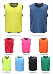 Wholesale Men Strapless - blank Soccer Group against bibs football training jerseys good quality men soccer shirt sports group against vest flat strapless