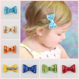 Wholesale Stretch Sequin For Headbands - Fashion children cotton Sequin Butterfly Hairpin 24 colors korean hair accessories for child stretch headband whole sale free shipping