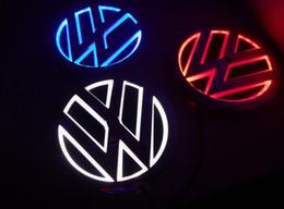 Wholesale Vw Cars - 5D car led emblem car led badge car led symbols logo for VW size diameter 110mm