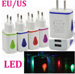 Wholesale 2015 promotional products double A A flashing USB plug light charger colorful adapter for all smart phone