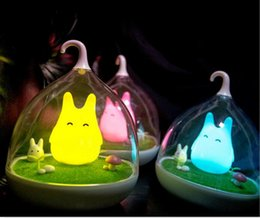 Wholesale Baby Bedroom Lighting - dhl FREE Newest Rechargeable Night Lamp Totoro Cute Portable Touch Sensor USB LED Lights For Baby Bedroom Sleep Lighting Art Decor lighting