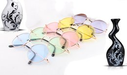 Wholesale Smallest Round Men Sunglasses - sunglasses for men sunglasses for women Color silver sun glasses fashion personality round sunglasses 9 colur (size Big and small)
