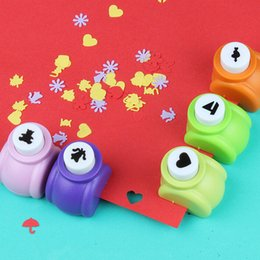 Wholesale Handmade Paper Wholesale - Circle Flower Punch DIY Craft Hole Puncher Kids Handmade Craft Gift Scrapbook Paper Cutter Scrapbooking punches Embossing device
