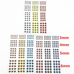 Wholesale Lure Bait Making - 549pcs*3mm 4mm 5mm 6mm Soft Molded 3D Holographic Fishing Lure Eyes, Fly Tying, Jig, Lure Baits Making