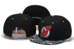 Wholesale Devil Hats - Free shipping ! Adjustable New Jersey Devils Snapback Hat Snap Back Hat For Men Basketball Cap team Hat Baseball Cap
