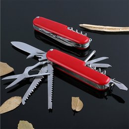Wholesale swiss army knives wholesale - 2017 New Design Outdoor tool travelling hiking and camping 11 functionS Stainless Steel swiss army folded knife