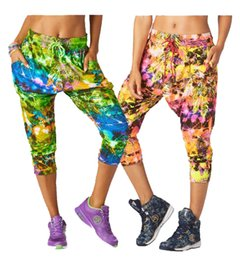 Wholesale Crop Harem - S M L women long pants Rock Out Cropped Harem Dance Pants yoga cargo pants