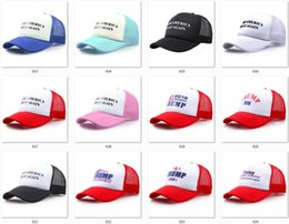 Wholesale Models Sports Hats - 120 Models Baseball Caps Hats Snapback for Men and Women Sunhats Make America Great Again Hat Donald Trump Republican USA Flag Sport Hats