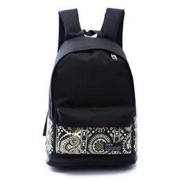 Wholesale Men S Backpack Bags - Canvas flower face print Backpacks Girls boy School Bags Casual Zipper Closure Knapsack Bags Women s Double Shoulder Bags GL-X8016